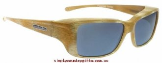 Collection Here Sunglasses Nowie NW003 Fitovers Women Glass.85238965 - Ivory Tusk/Grey Polarised