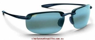 Fascinating Sunglasses Ho'okipa 40702 Maui Jim Men Glass.84101111 - Gloss Black/Grey