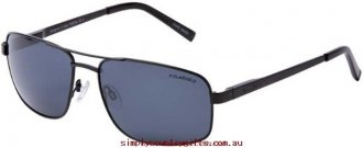 100% Quality Sunglasses Pascal 25422 Bill Bass Men Glass.38043683 - Satin Black/Grey Polarised