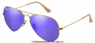 Buy Good Sunglasses 3025 30251676858 Ray Ban Women Glass.24242100 - Demiglos Brushed Bronze/Blue Mirror Lenses