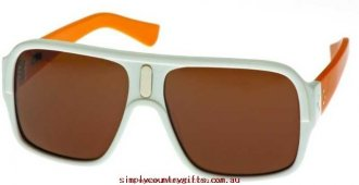 Favorably Sunglasses Pins & Needles 761190 Blinde Men Glass.69888542 - White with Peach Temples/Brown Mono
