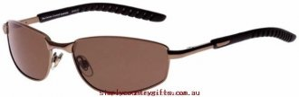 Enjoy Sunglasses Trundle 10461080 Cancer Council Men Glass.43433737 - Metallic Brown Brown Rubber/Brown Polarised