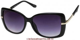 Fast Delivery Sunglasses Cayman 1412542 Seafolly Women Glass.66916725 - Black/Smoke Gradient Lenses