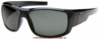Charming Sunglasses Droid DRBLKSTONE Spotters Men Glass.26445239 - Shiny Black / Grey Polarised Glass