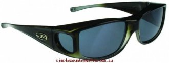 Factory Price Sunglasses Jett JT005 Fitovers Women Glass.15808429 - Olive Charcoal/Grey Polarised