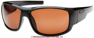 Buy Sale Sunglasses Droid DRBLKCRC Spotters Men Glass.33282912 - Shiny Black / CR-39 Polarised Copper