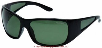 Extremely Sunglasses Tamworth 1103815 Cancer Council Men Glass.50201925 - Black/Green Polarised