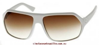 Favorite Sunglasses Our Singing Slinga 693190 Blinde Men Glass.42617568 - Solid White / Brown Gradient