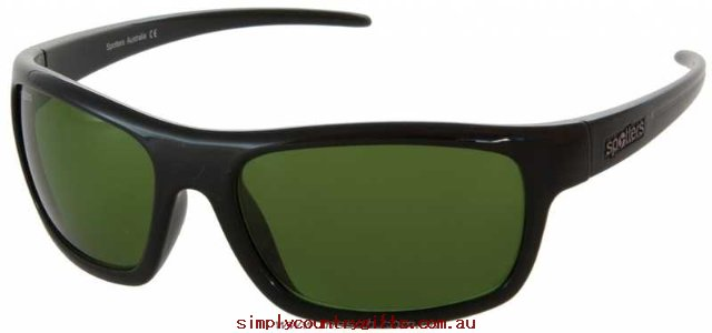 Great Deals Sunglasses Bolt BOBLKCRE Spotters Men Glass.22069274 - Gloss Black / CR-39 Polarised Emerald